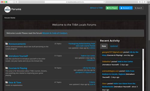 TXBA Locals Forums