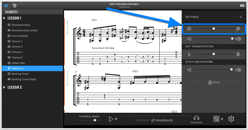 How To Use Interactive Tablature