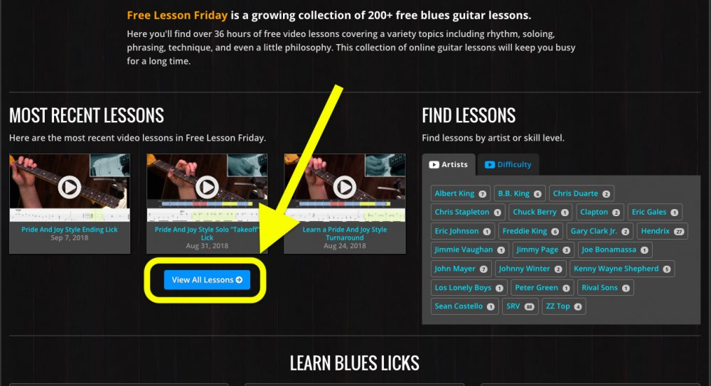The New Free Lesson Friday Section